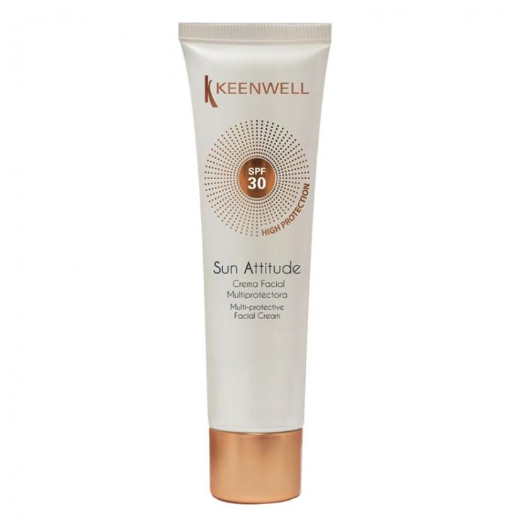KEENWELL Sun Attitude Crema Facial Multiprotectora SPF 30 – Мультизащитный крем для лица СЗФ 30