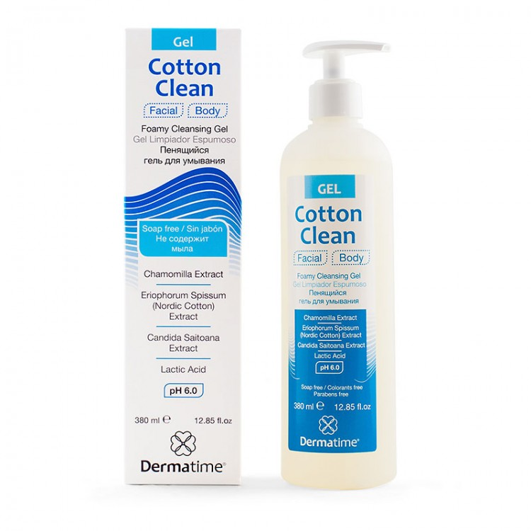 Dermatime COTTONCLEAN Foamy Cleansing Gel - Пенящийся гель для умывания